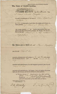 Bill of Sale to Thomas S. Grimke for the purchase of a slave boy named Agrissa, December 13, 1831