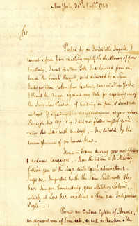 Letter from John Hector St. John to Nathanael Greene