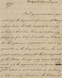 Letter to John F. Grimke from B. Waring, October 11, 1786