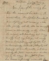 Letter to John F. Grimke from John Portell, October 23, 1786