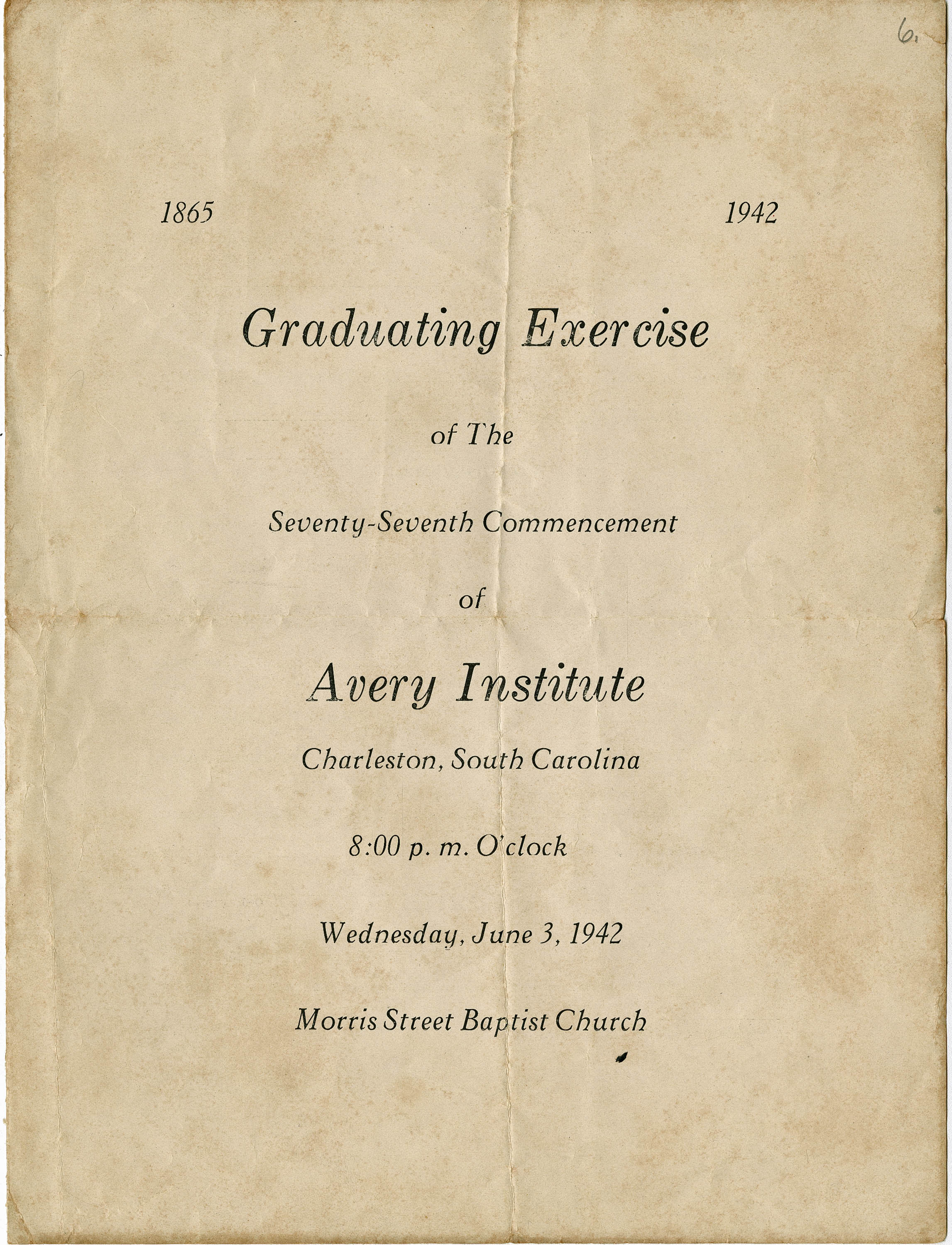 Avery Normal Institute Commencement Exercises