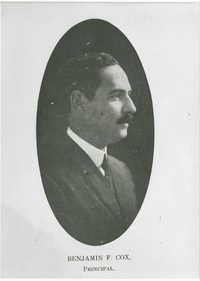 Portrait of Avery Principal, Benjamin F. Cox