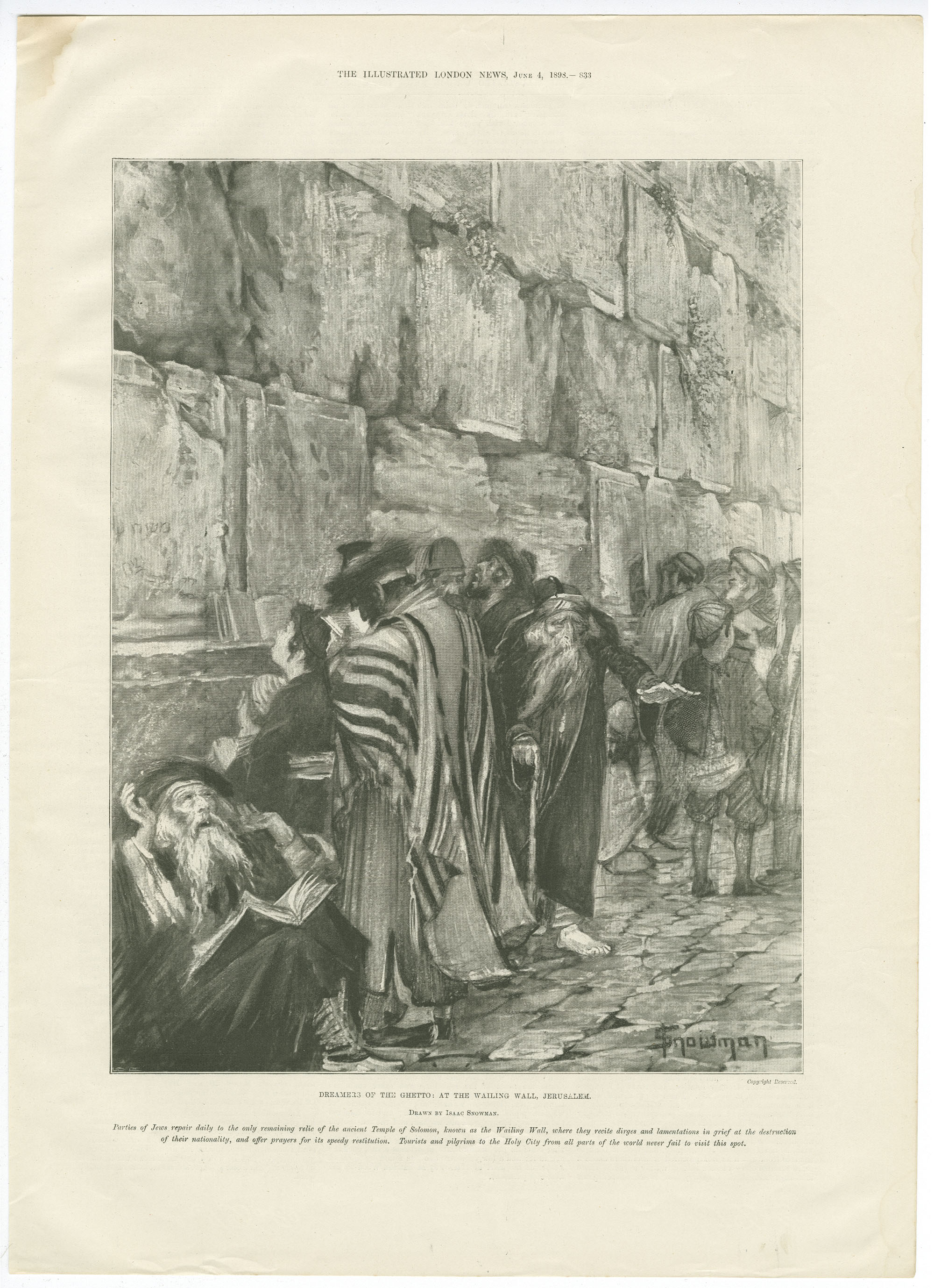 Dreamers of the ghetto : at the Wailing Wall, Jerusalem