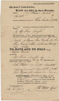 Bill of Sale for slave,