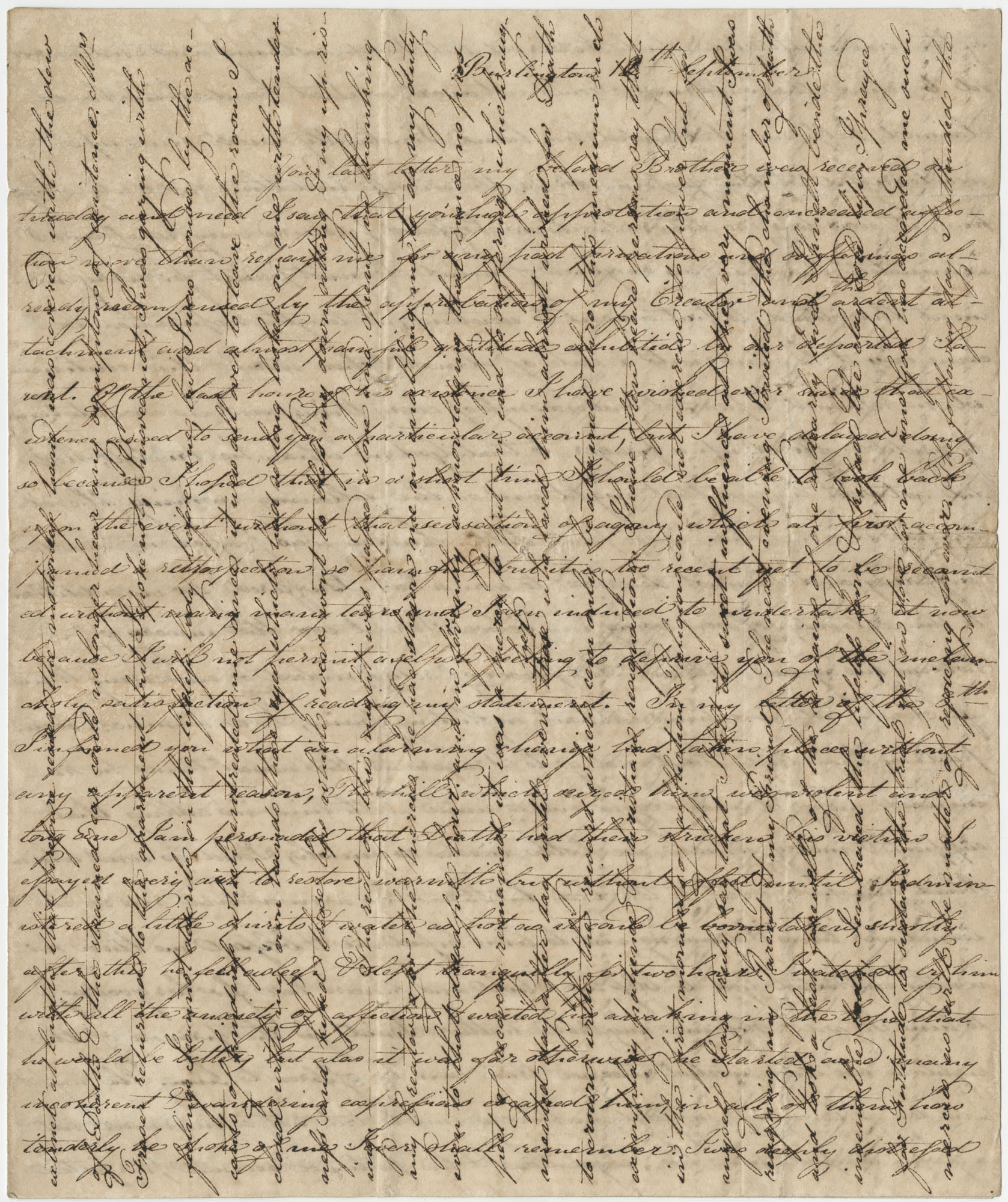Letter to Thomas S. Grimke from his sister, Sarah M. Grimke,  September 1819