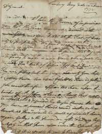 Letter from John F. Grimke to General [Howe?], May 1778