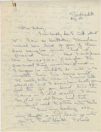 Letter from Gertrude Sanford Legendre, August 18, 1942
