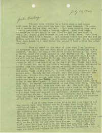 Letter from Sidney Jennings Legendre, July 14, 1944