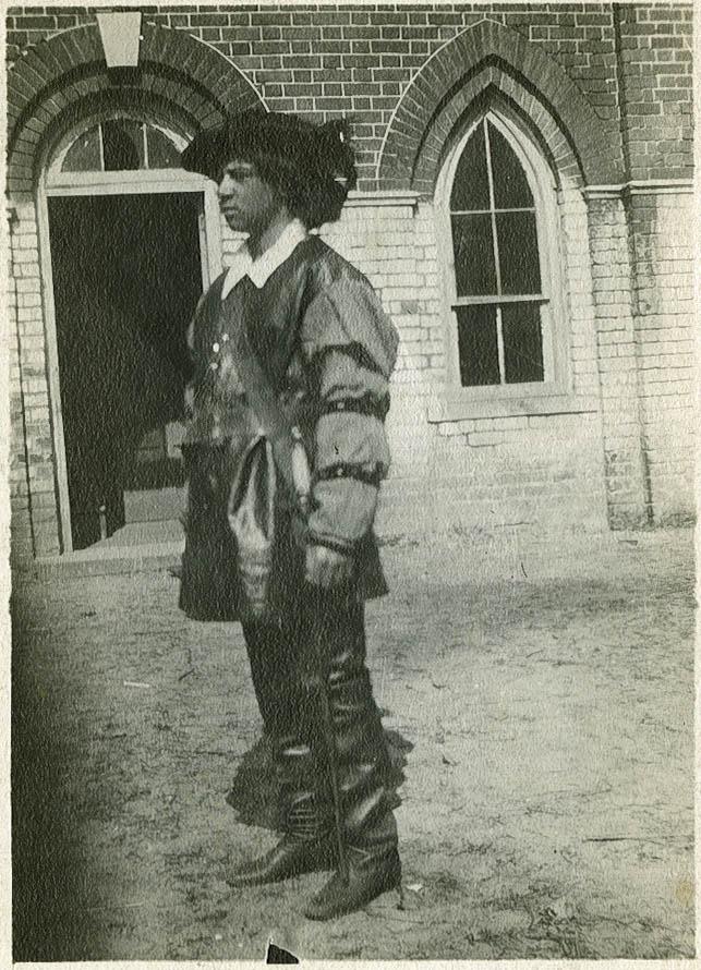 Avery Student John Henderson in Costume for Shakespeare's