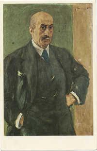 Liebermann, M. - Self-portrait / ליברמן, מ. - דיוקן עצמו