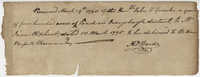 Receipt from John F. Grimke for the sale of land to James Oliphant, March 29, 1790