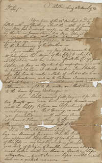 Letter from Thomas Ousby to John F. Grimke, March 10, 1784