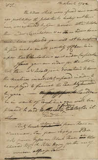 Letter from John F. Grimke to Colonel Horry, April 12, 1782