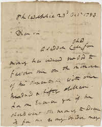 Letter from Robert Howe to John F. Grimke, October 23, 1783