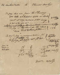 Pay stub for Thomas Ousby, 1782