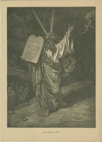 Moïse descend du Sinaï