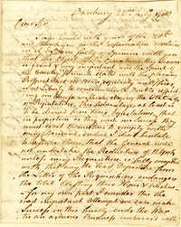 Letter from Samuel H. Parsons to Nathanael Greene