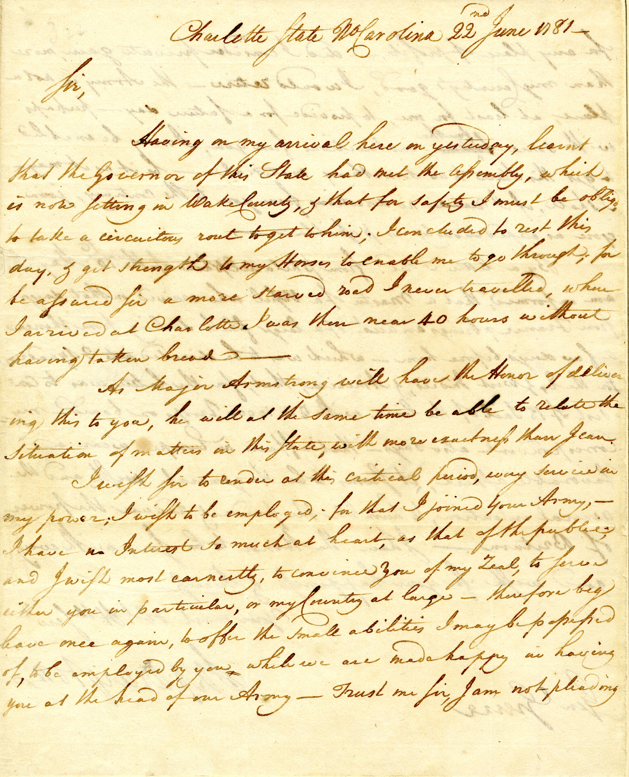 Letter from Stephen Drayton to Nathanael Greene