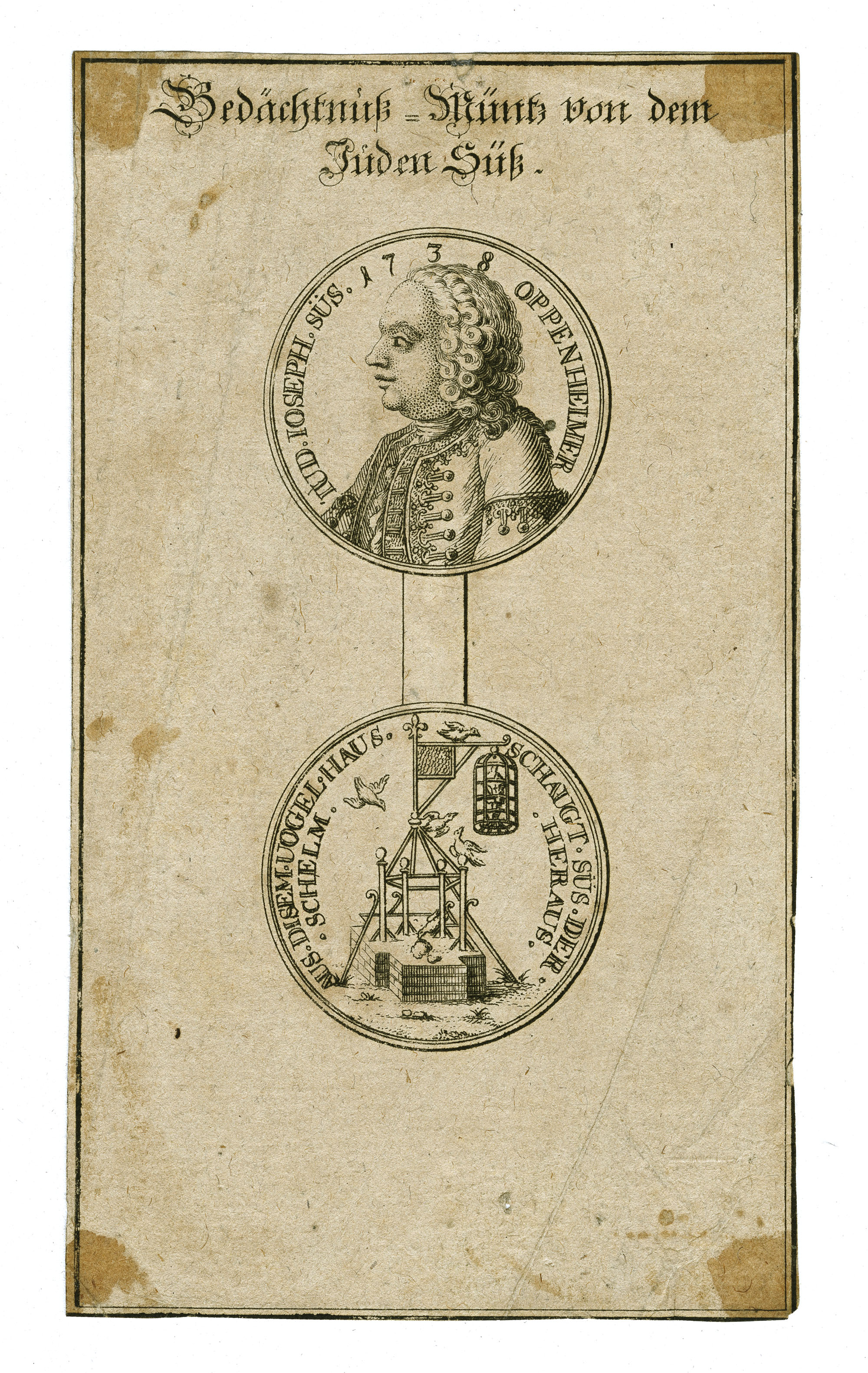 Gedächtnuß-Müntz von dem Juden Süß