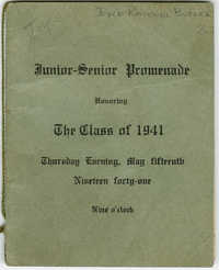 Program for Junior-Senior Promenade.