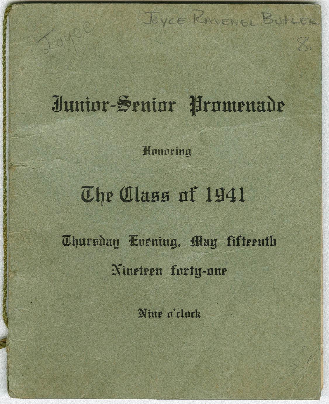 Program for Junior-Senior Promenade.