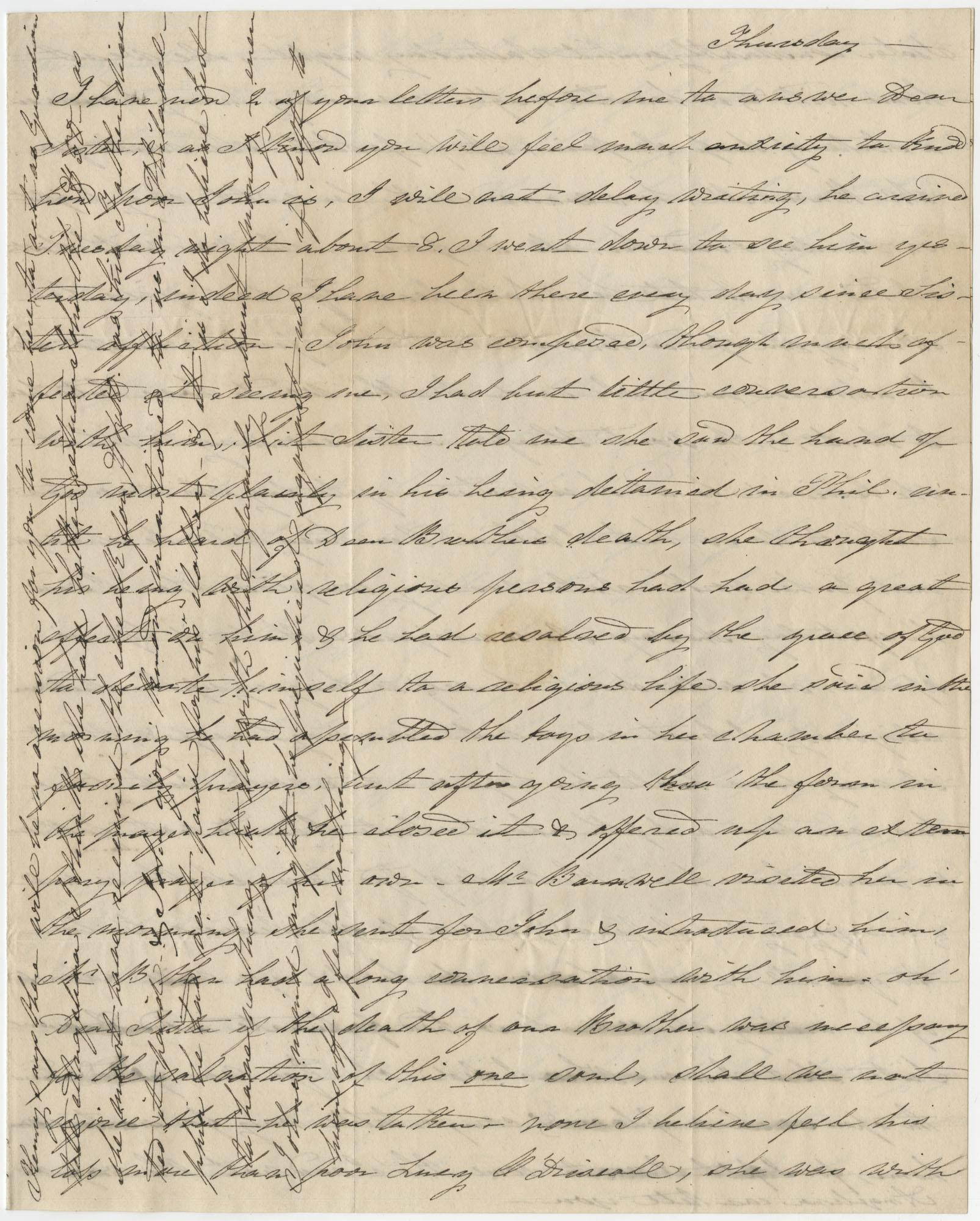 Letter to Angelina Grimke and Anna R. Frost from Elizabeth Caroline Grimke, 1834
