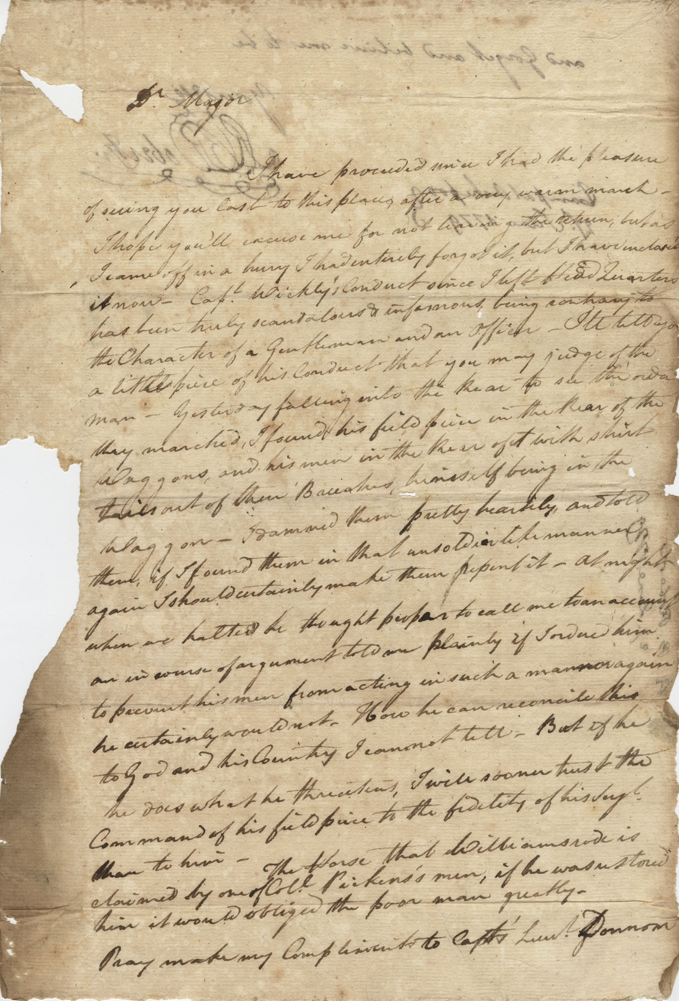 Letter from R.B. Roberts, June 27, 1779