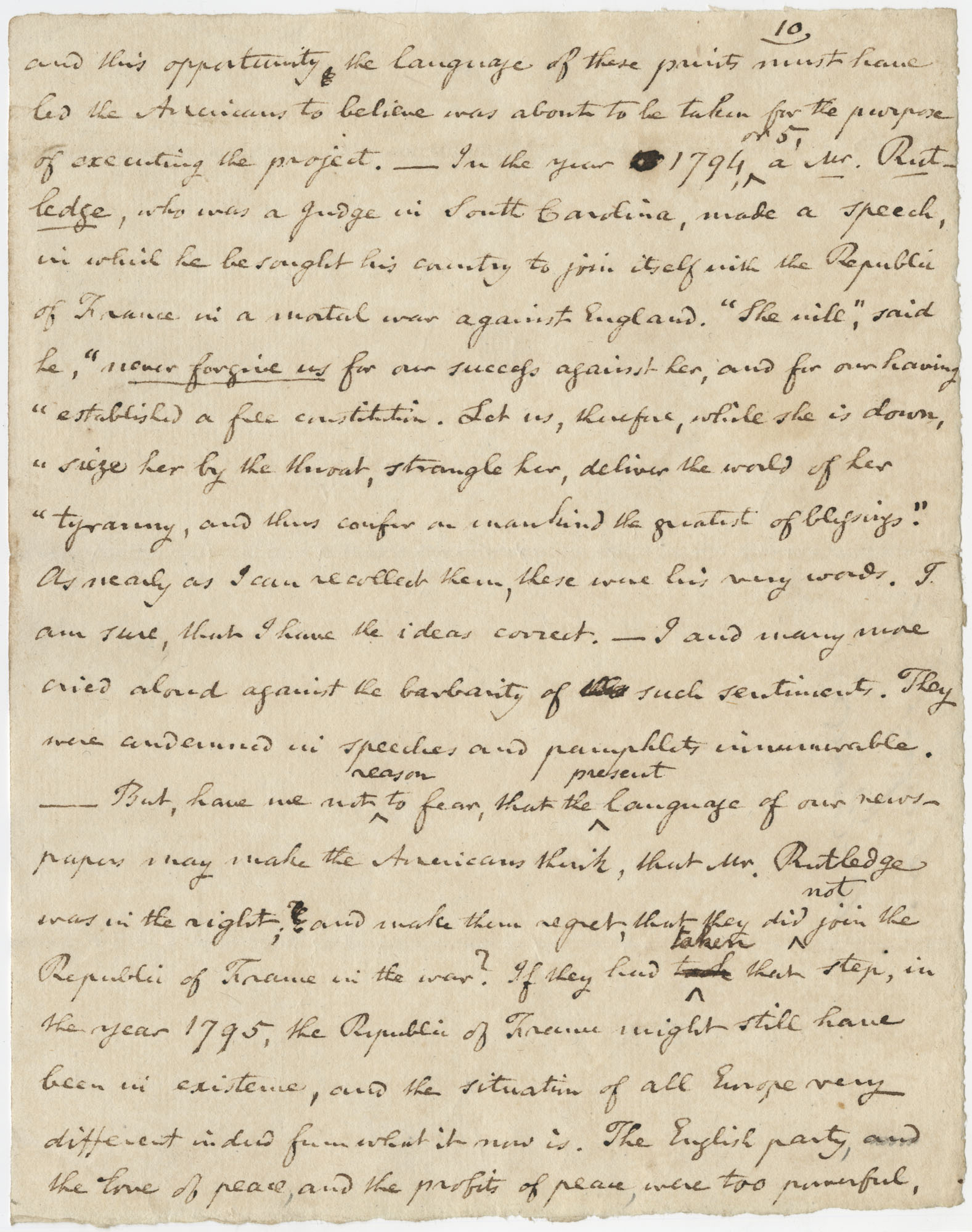 Thomas S. Grimke Autograph Collection, autograph of William Cobbett, English and American pamphleteer and reformer, undated