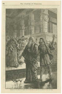 Tableau of the miracle of Moses's rod in the Feast of Chanucka, Academy of Music, New York