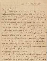 068. Nathaniel Heyward to James B. Heyward -- February 19, 1838