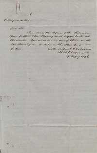 106. J.M. Perneau to Charles Heyward -- February 9, 1846