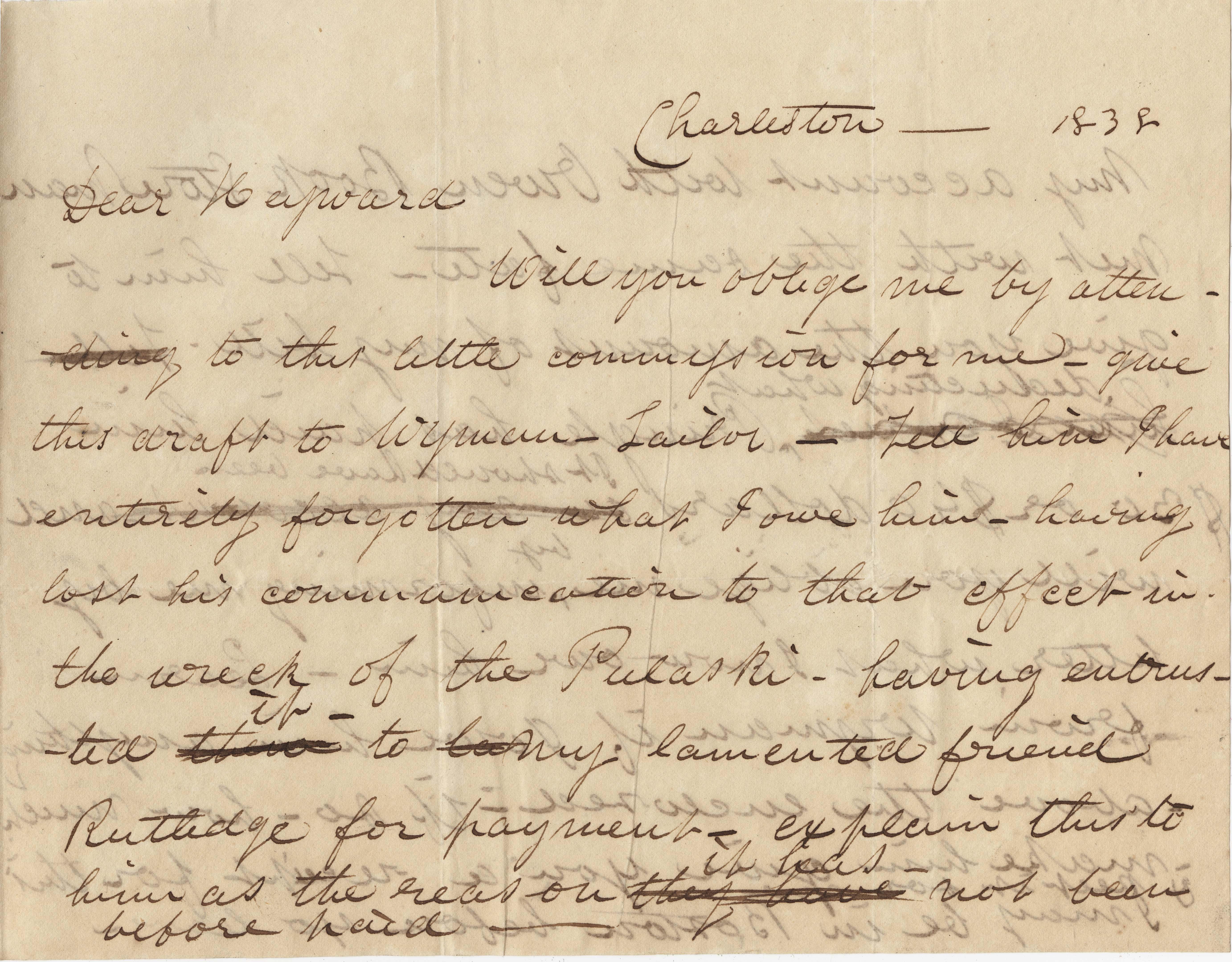067. J. Harleston Read to James B. Heyward -- 1838