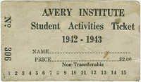 Avery Institute Student Activities Ticket