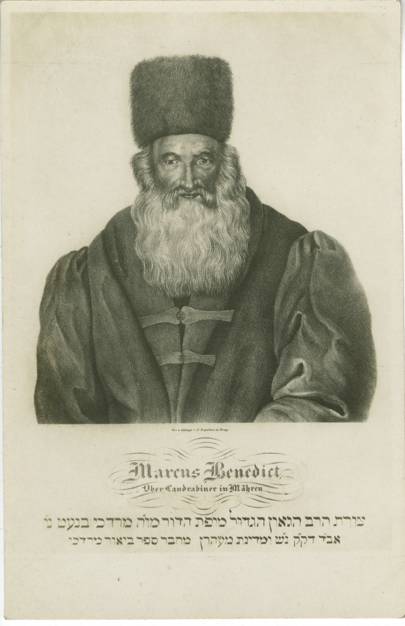 Marcus Benedict, Ober Landrabiner in Mähren
