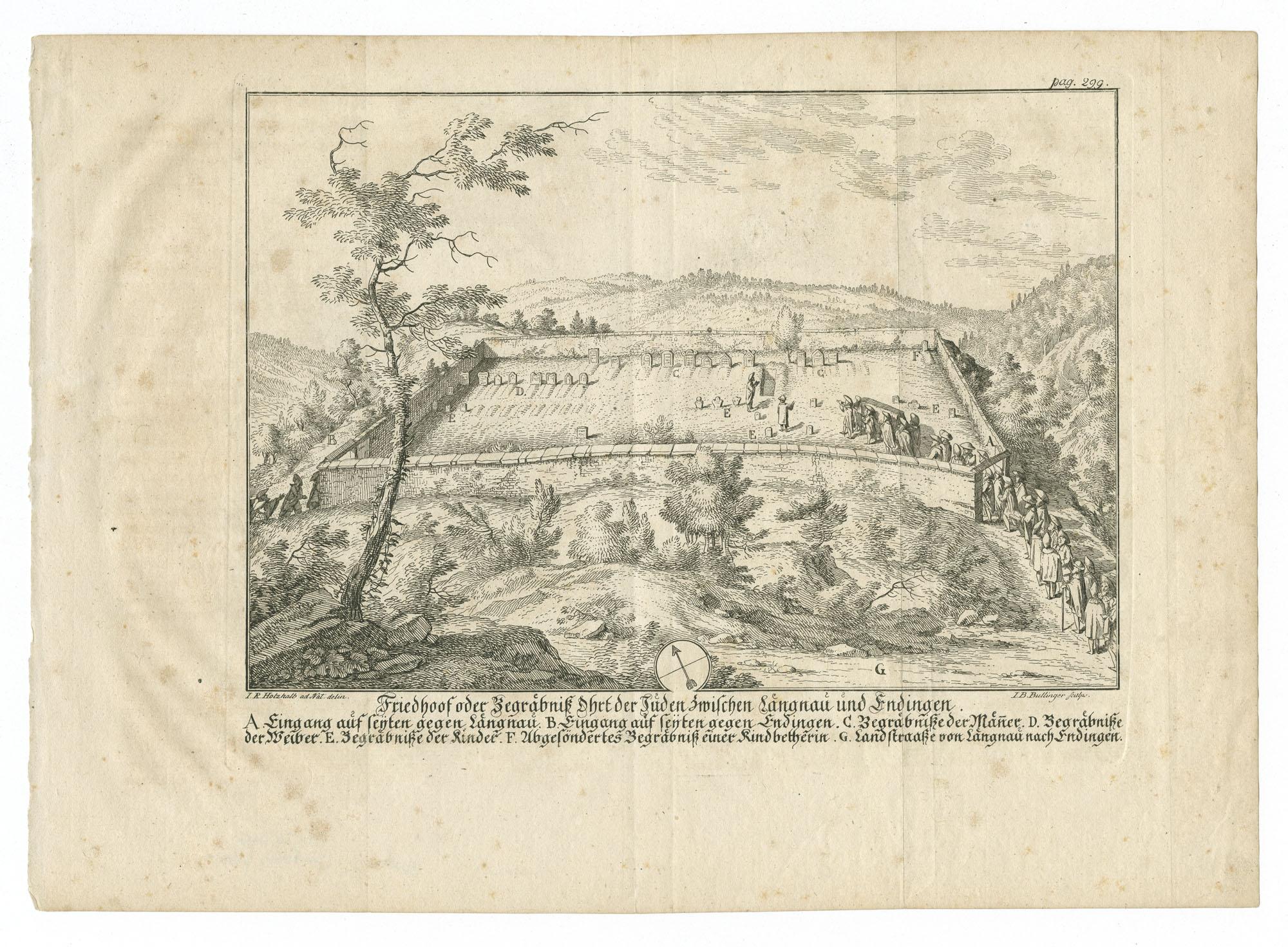 Friedhoof oder Begraebniß Ohrt der Juden zwischen Laengnau und Endingen