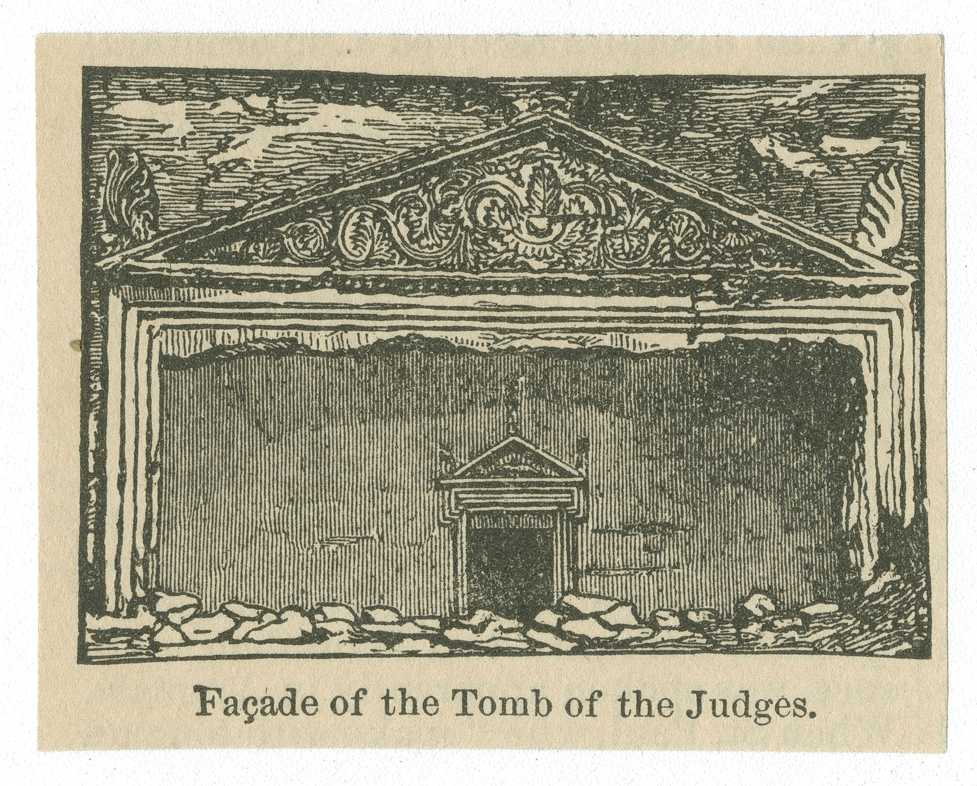 Façade of the Tomb of the Judges