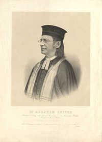 Dr. Abraham Geiger, Rabbiner u. Prediger der Israel. Gemeinden z. Z. in Wiesbaden, Breslau, Frankfurt a/M. und Berlin