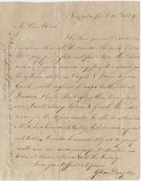 Letter to Thomas Drayton from his nephew Glen Drayton, April 20, [1801?]