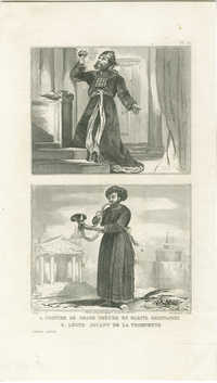Costume de Grand Prêtre en habits ordinaires / Lévite jouant de la trompette