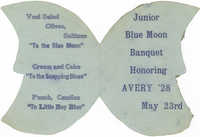 Menu for the Junior Blue Moon Banquet