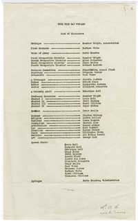 Cast list for production of