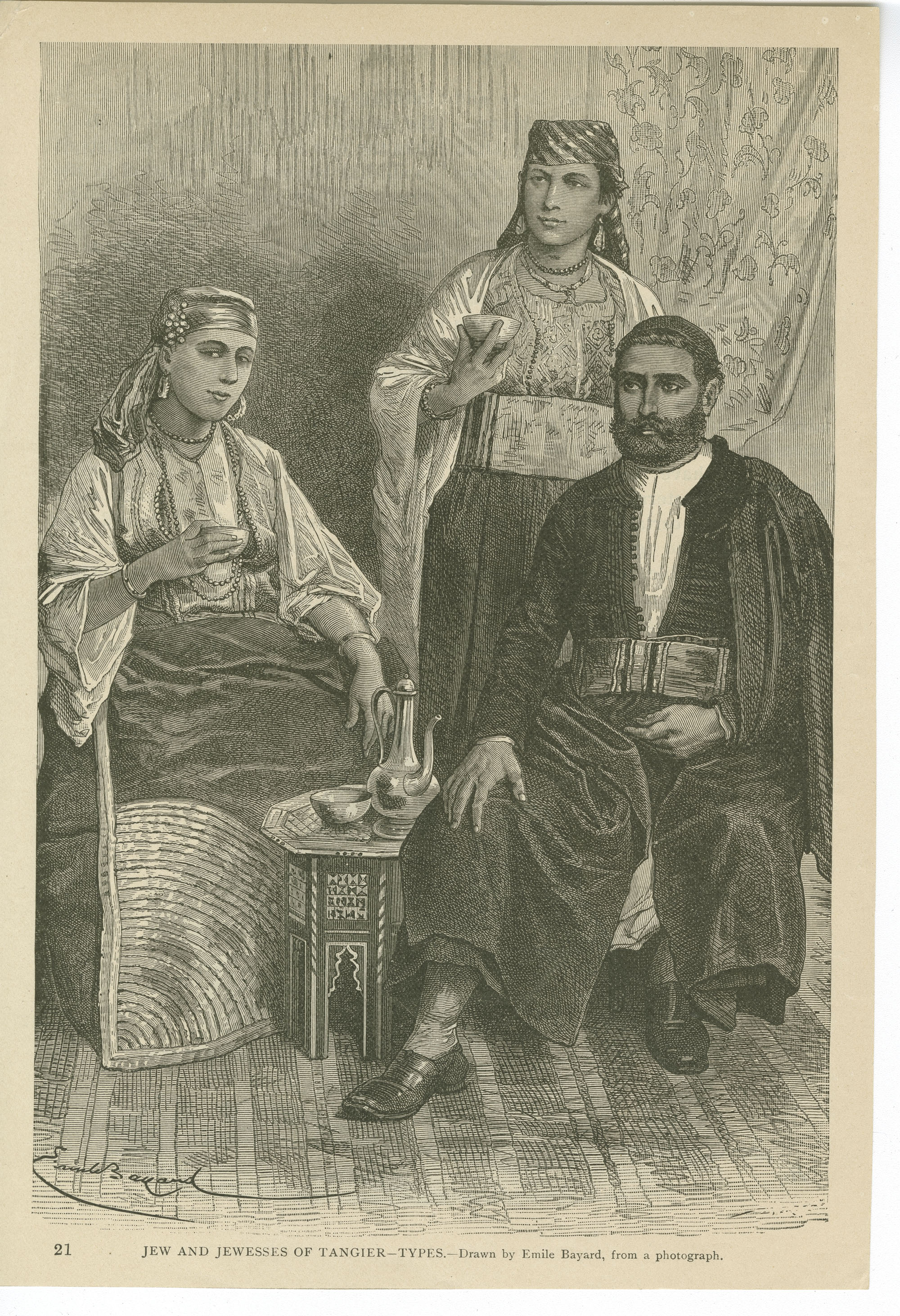 Jew and Jewesses of Tanger--Types.