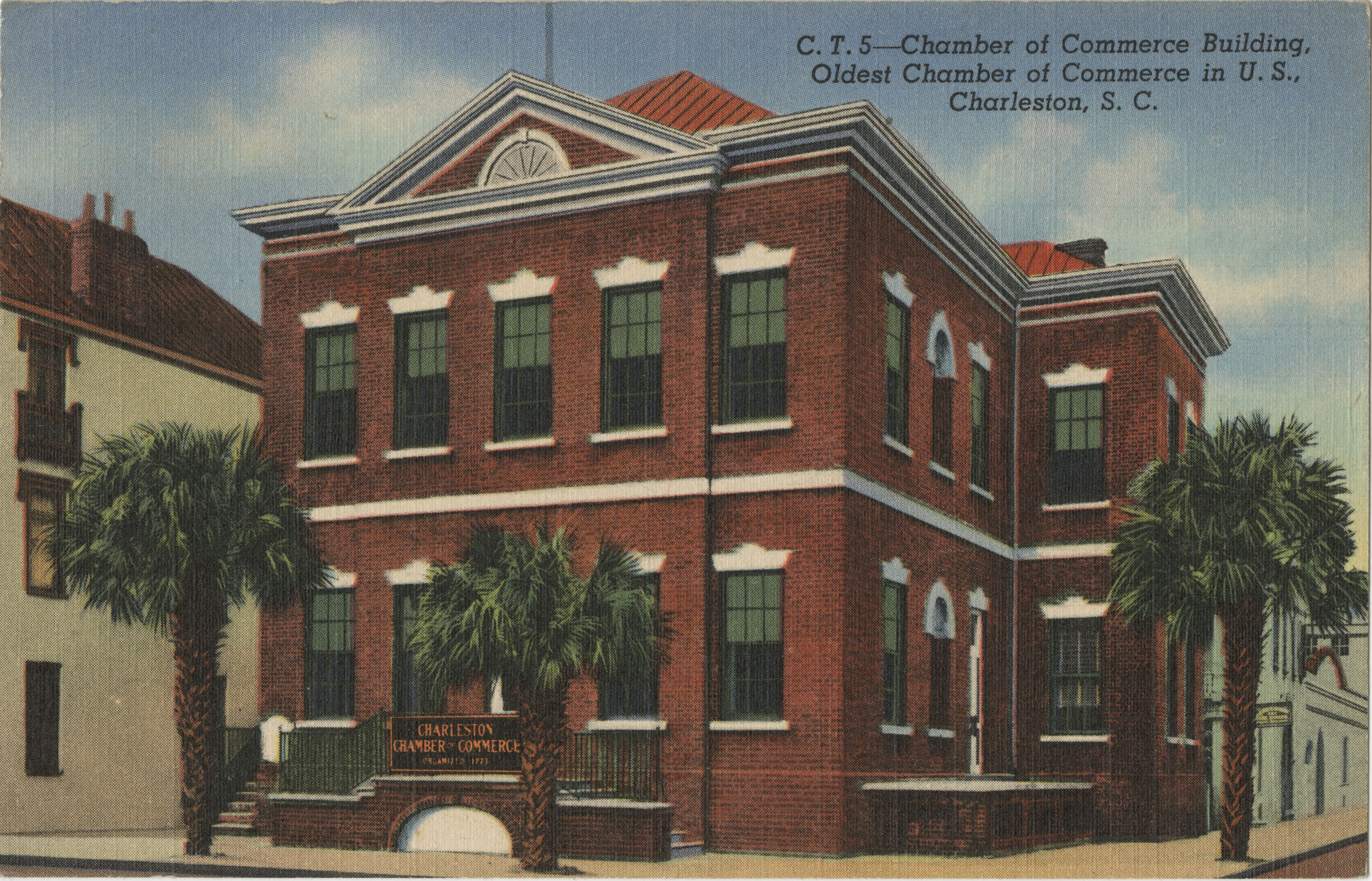 Chamber of Commerce Building, Oldest Chamber of Commerce in U.S., Charleston, S.C.