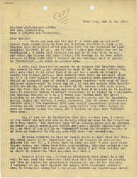 Letter from Armant Legendre, October 11, 1944