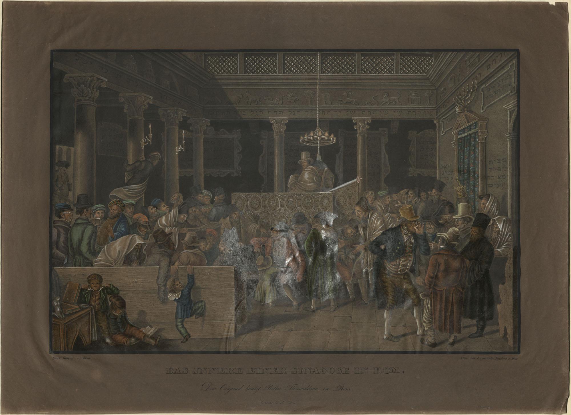 Das innere einer Sinagoge in Rom