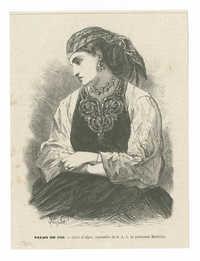 Salon de 1866. - Juive d'Alger, aquarelle de S. A. I. la princesse Mathilde.