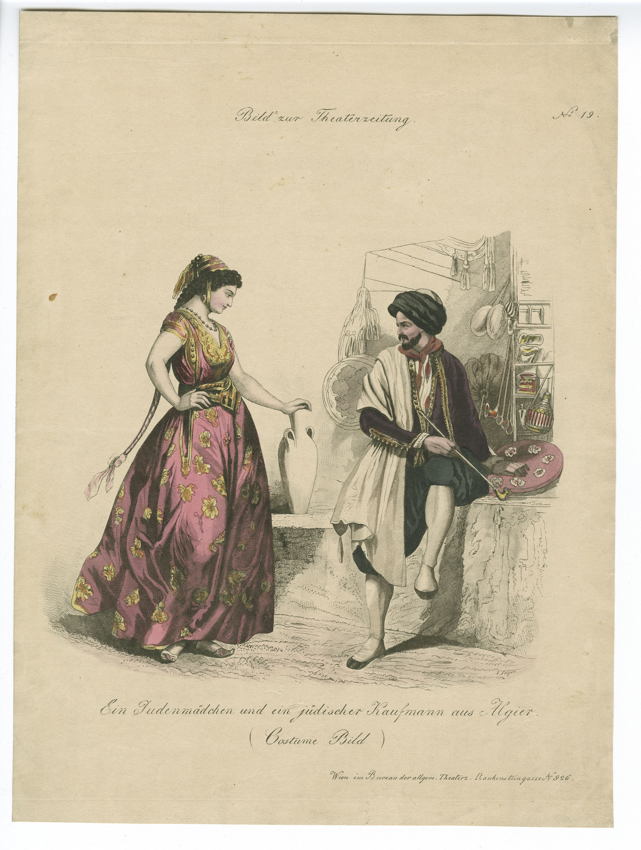 Ein Judenmädchen und ein jüdischer Kaufmann aus Algier