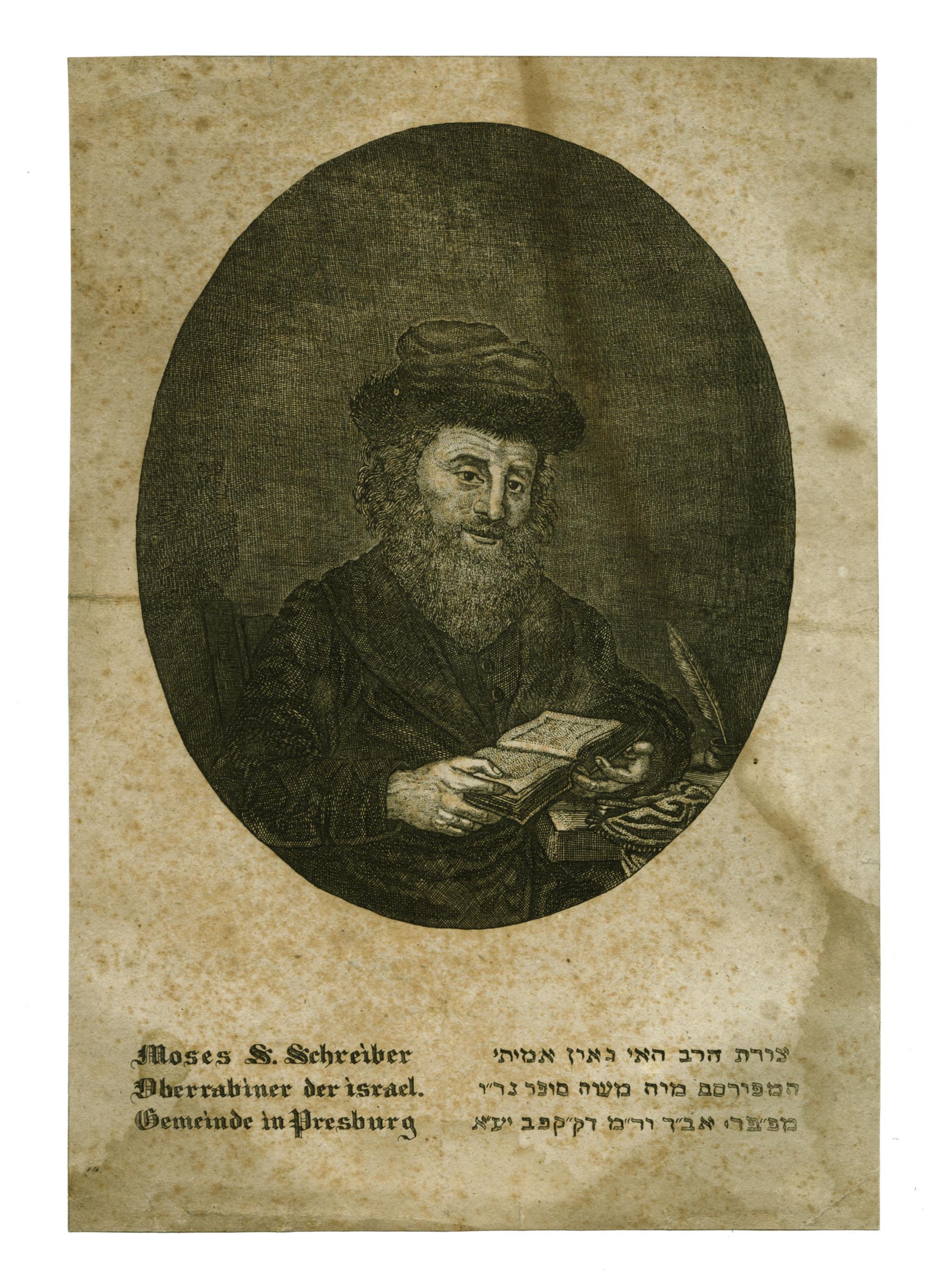 Moses S. Schreiber, Oberrabiner der israel. Gemeinde in Presburg