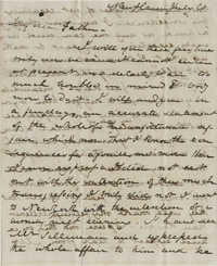 Letter from Drayton Grimke to his father, Thomas S. Grimke, July 20, 1828