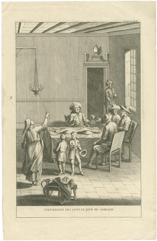 Cérémonies des juifs le jour du Sabbath